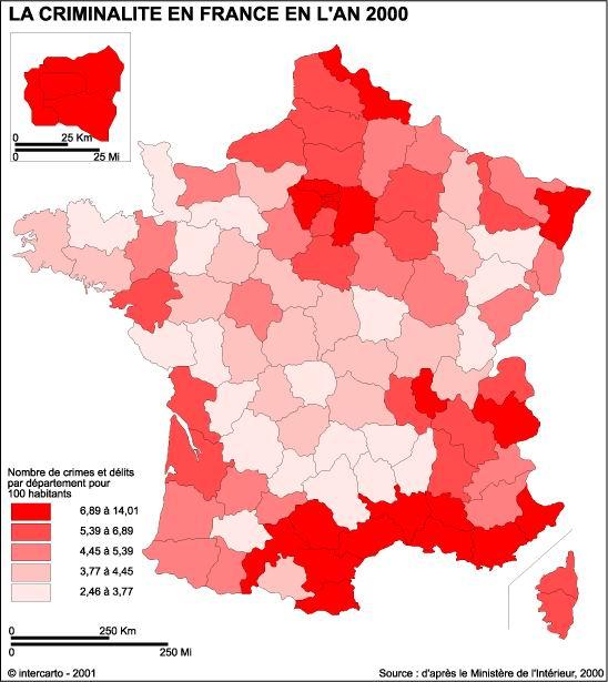 Criminalit Ef Bf Bd En France Par Ville
